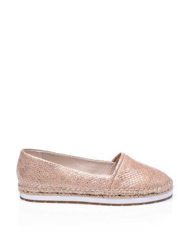 Kenneth Cole Pembe Altın Deri Espadril Düz Ayakkabı  #espadril #kanvasayakkabı #kennethcole #fashion #moda #yazlıkayakkabı #bezayakkabı #shoes #canvasshoes #fashion #trend #style #look #moda #2016modası