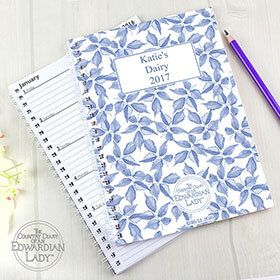 Personalised A5 Diary - Blue Blossom: Item number: 3556045727 Currency: GBP Price: GBP7.95
