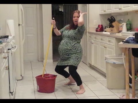 A Pregnant Woman Is Dancing In The Kitchen, But She's Interrupted By SOMEONE !!! - WTVideo.com