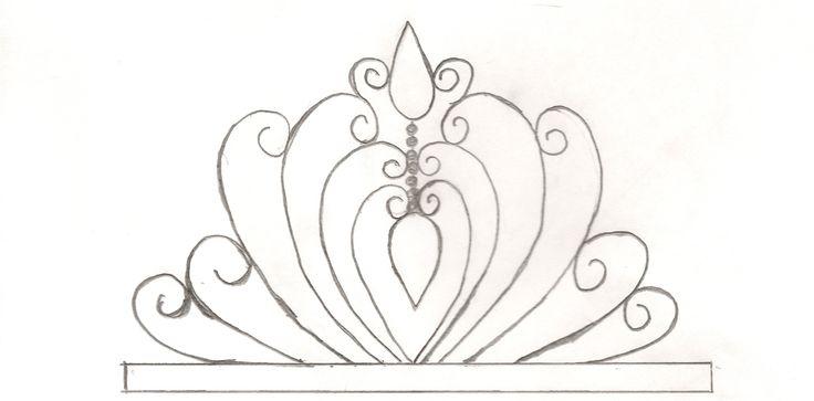 princess tiara template enjoy use gumpaste or fondant tiaras