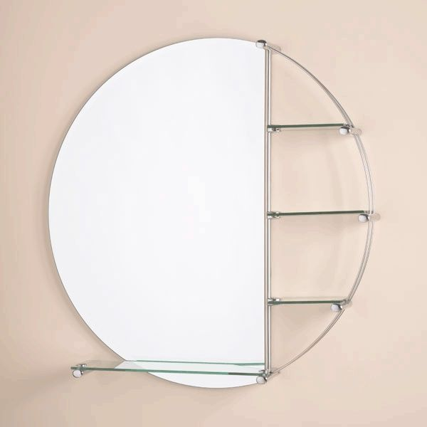 Orion Bathroom Mirror Priced At The 800mm Orion Bathroom Mirror With Glass Shelves In A