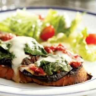 Grilled Eggplant Parmesan Sandwich Recipe from EatingWell.com #myplate #vegetables