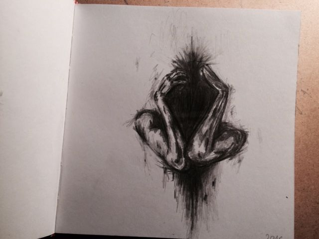 Drow, drowing, deepdrow, art, artist, artmood, artlife, drowlife, without face, girl, shout, dark