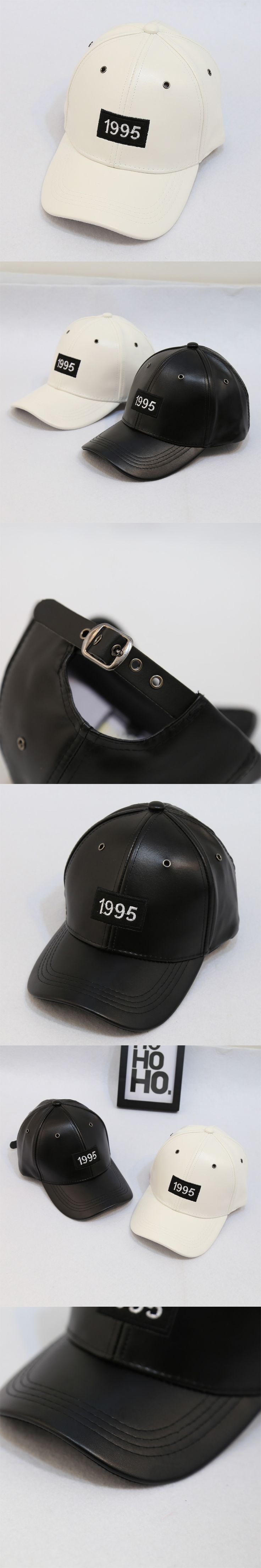 Cool Fashion 1995 Patch Man Hiphop Baseball Cap Leather Adjustable Casquette Sporting Motorcycle Cap Outdoor Curved Canopies Hat