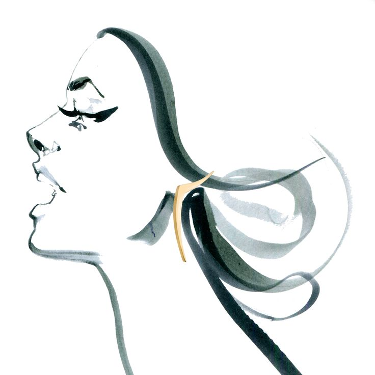 Earrings from DISSOLVE collection by Anna Orska. Illustrated by Anna Halarewicz.