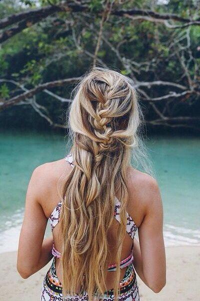 Pretty beach hair