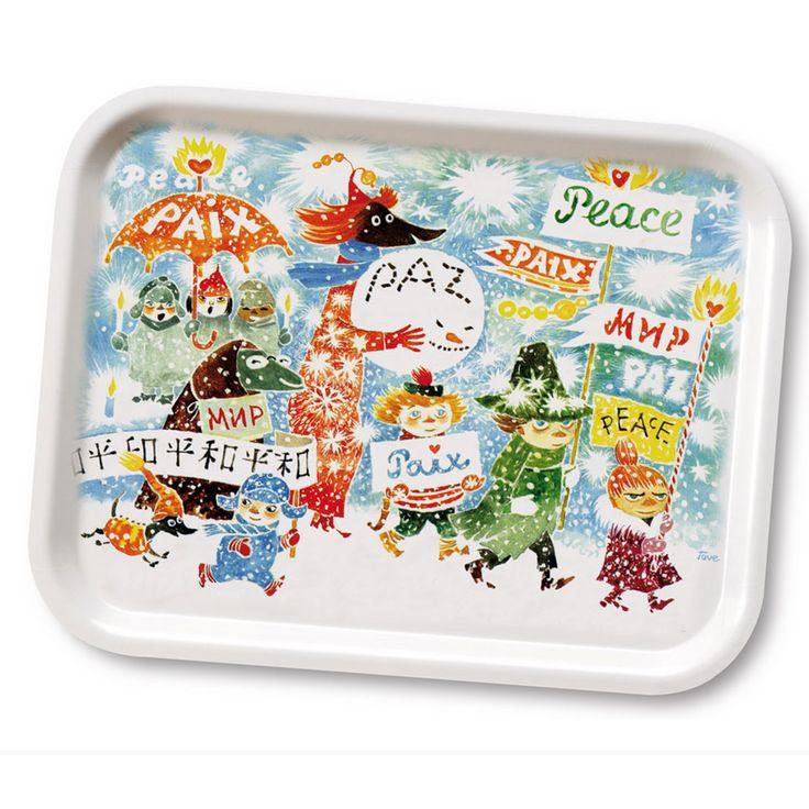 Moomin Tray 27x20cm, Unicef Peace, Opto Design