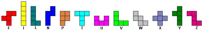 Pentominoes patterns for different animals - solutions included