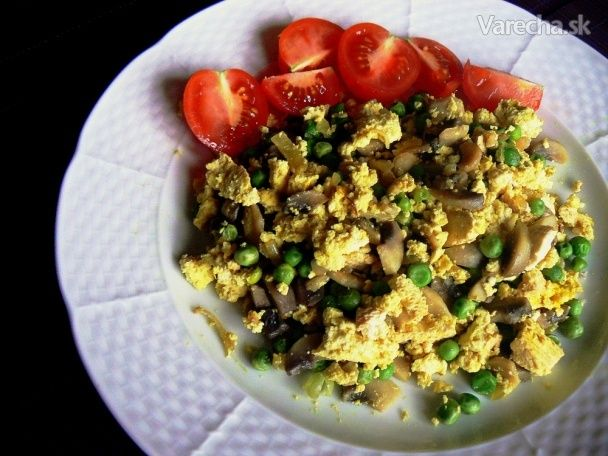 Tofu praženica (bez vajíčok, vegan)