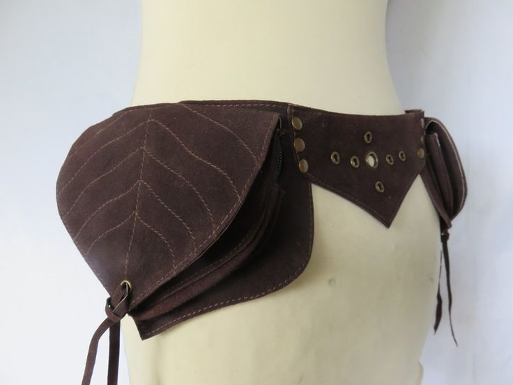 Gürteltasche Hüfttasche Wildleder  - Leaf von Celtic Creations auf DaWanda.com