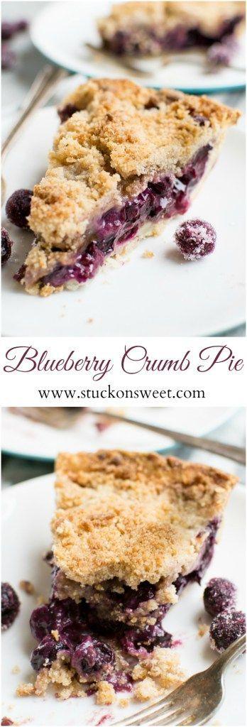 Blueberry Crumby Pie | This dessert recipe is everything! www.stuckonsweet.com
