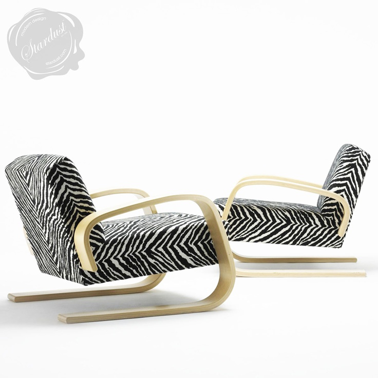 The 400 Chair (more commonly known as the Tank Chair), designed by Finnish designer Alvar Aalto in 1936, is one of the icons of furniture design and a Stardust Staff Pick.  http://www.stardust.com/alvar-aalto-400-chair-artek.html
