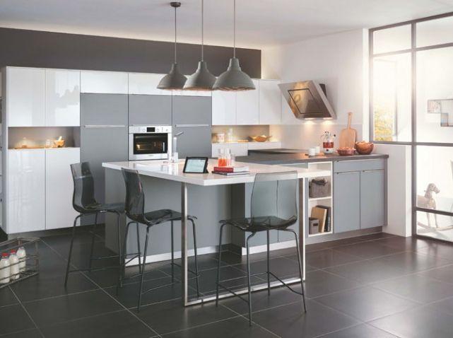 Cuisine grise mobalpa kitchens pinterest cuisine for Cuisine facade grise