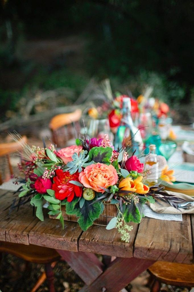 Rustic Wedding Receptions - Come see these beautiful bohemian style wedding ideas!   http://www.beautiful-bridal.blogspot.com/