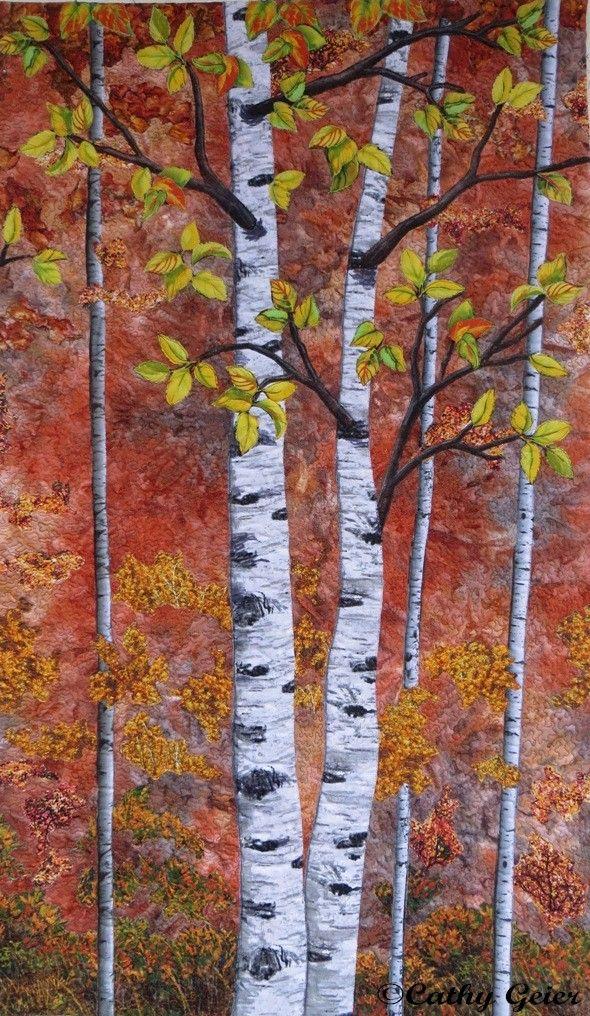 30 best Autumn Blaze Quilt Kit Photo Step by Steps images on Pinterest Landscape quilts, Art ...