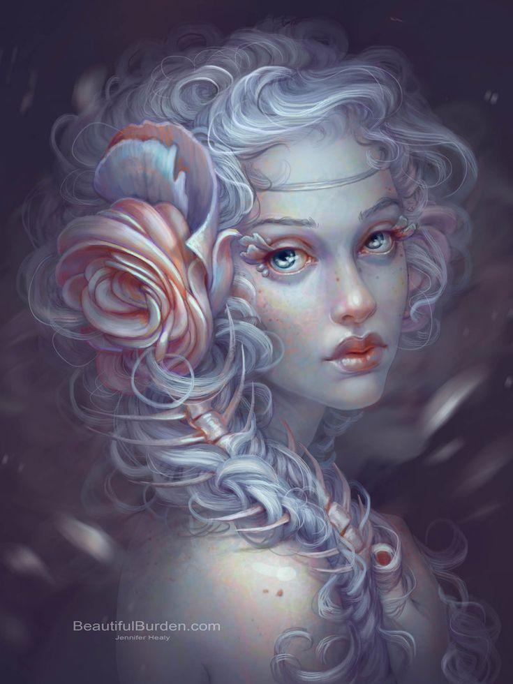 art by jennifer healy | Incredible Digital Female Fantasy Portraits by Jennifer Healy