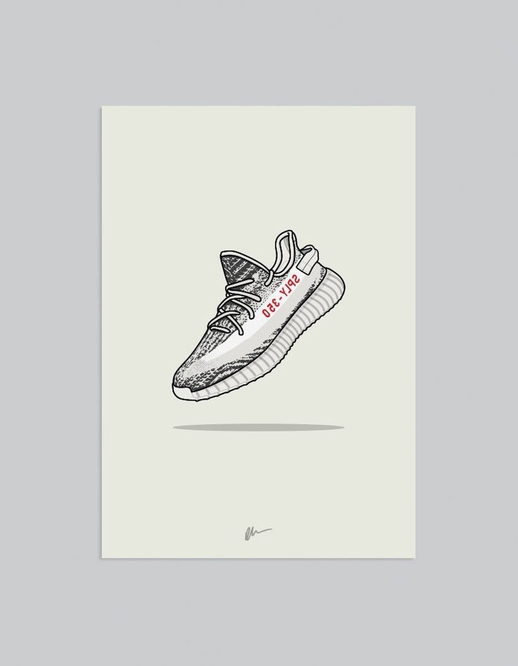 Image of ★ NEW ★ Yeezy 350 v2 Zebra (1) Sneaker art