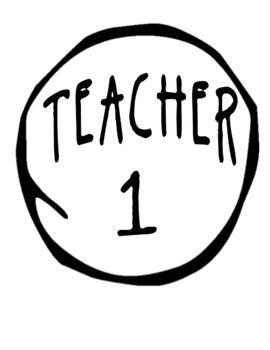 This product has Teacher 1 to Teacher 8 logo like Thing 1 and Thing 2 from Dr. Seuss books. There is an option to print the imprint in 2 ways, regular printing for dark shirts and inverse for dark shirts.