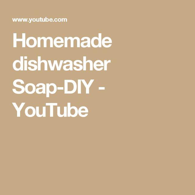 Homemade dishwasher Soap-DIY - YouTube