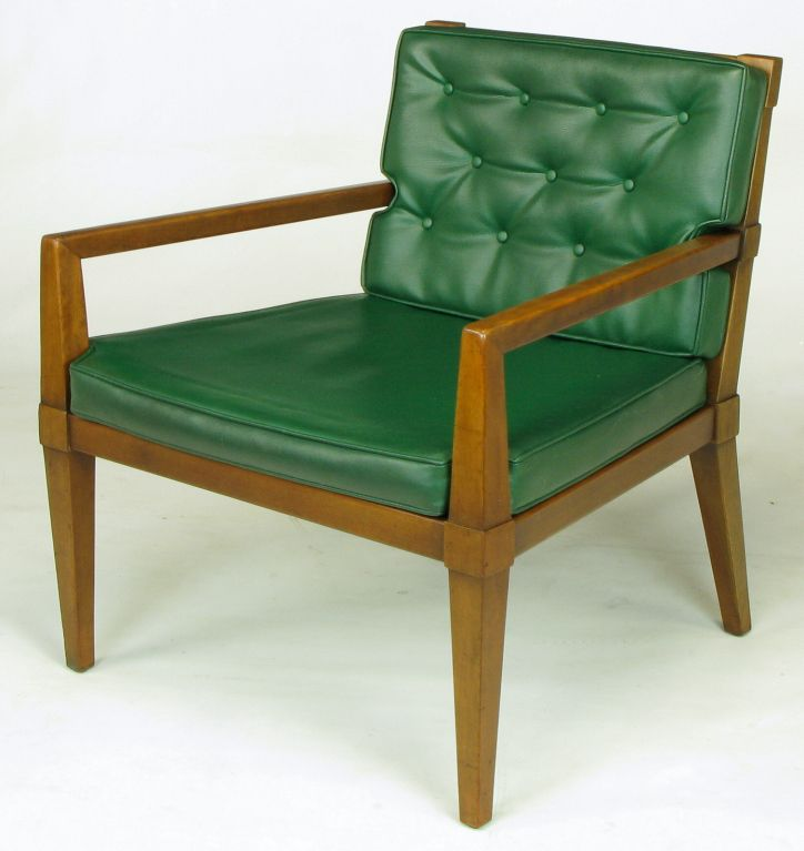 Bert England; Walnut and Cane Armchair for Baker, c1960.