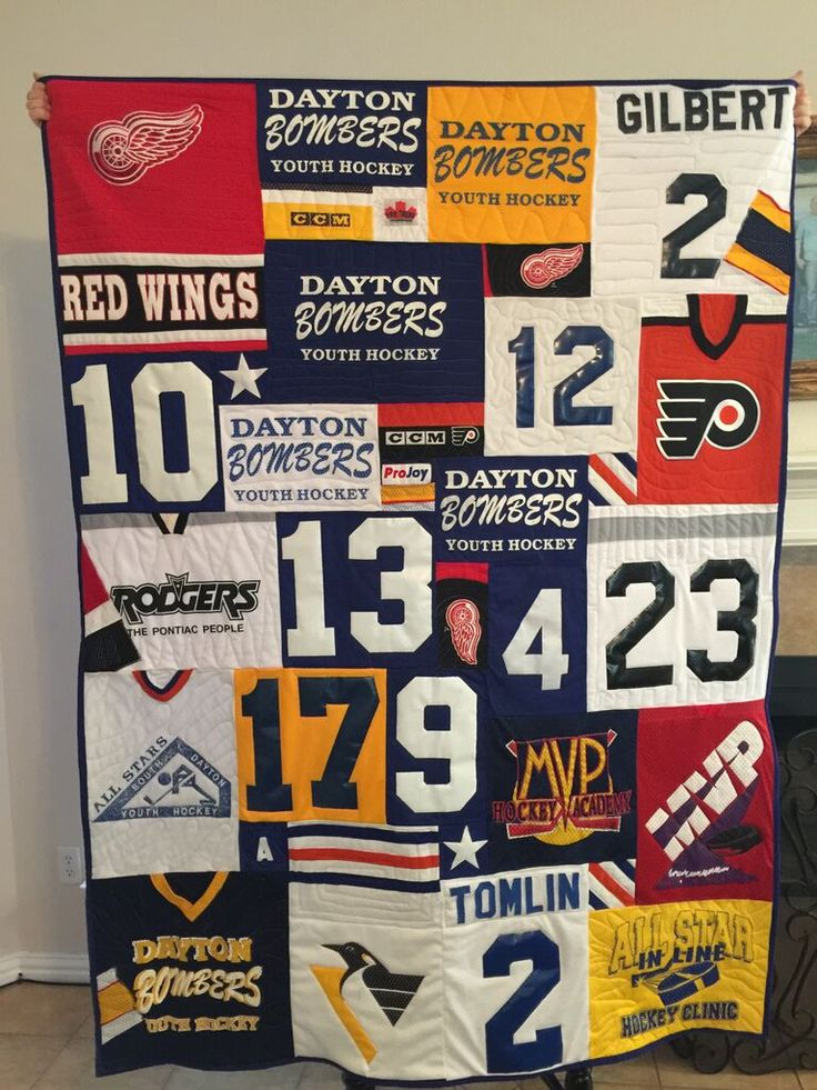Hockey Jersey Quilt