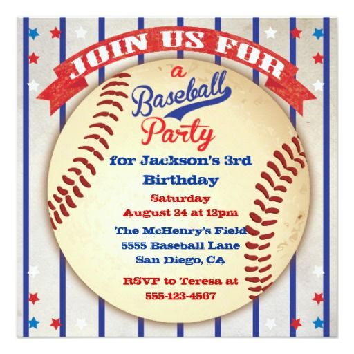 17 Best Images About Baseball Birthday Party Invitations