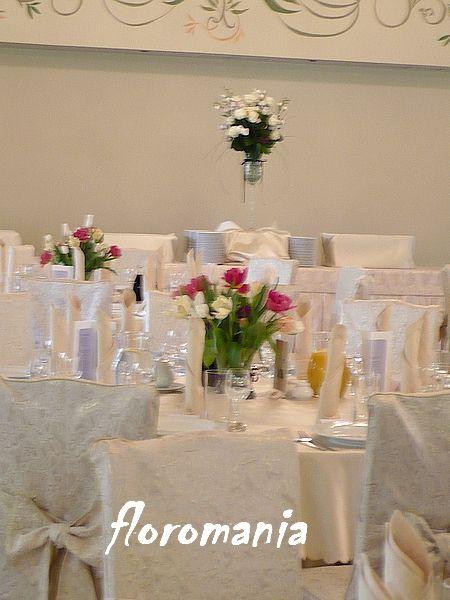 Dekoracja ślubna - sala Arkadia