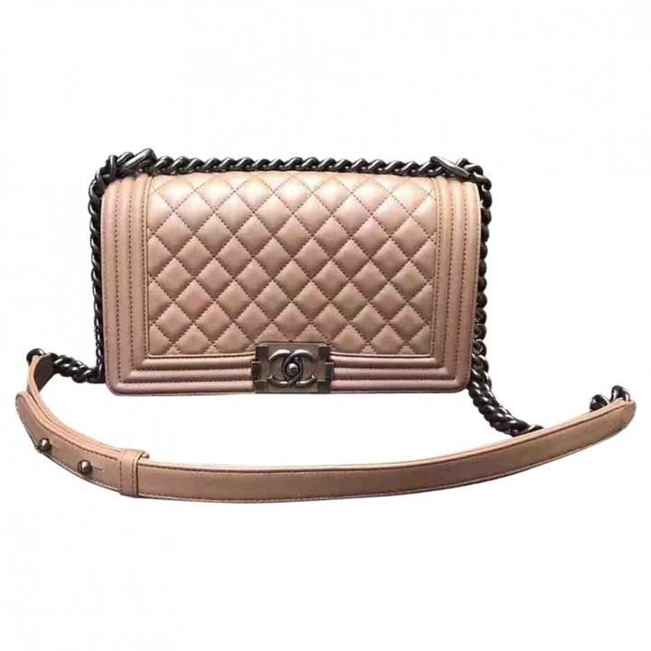 Blush Pink Chanel Boy #Bag with Silver Hardware | #Pink #Handbag | #Fashionista | #BagInspo | #Ad