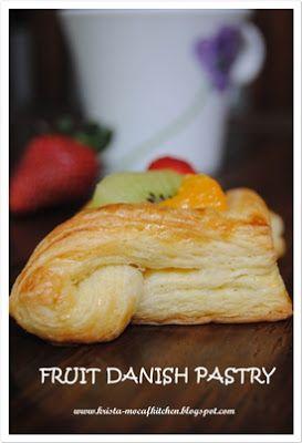 KRISTA MOCAF KITCHEN: Fruit Danish Pastry - Not Gluten Free