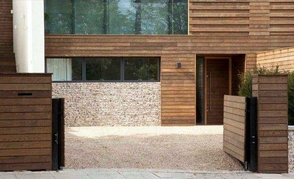 wood driveway gate