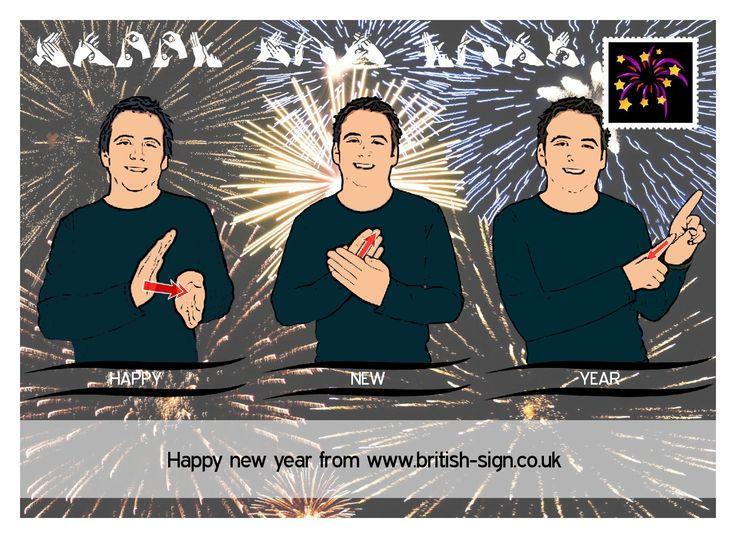 Happy New Year from www.british-sign.co.uk #BritishSignLanguage