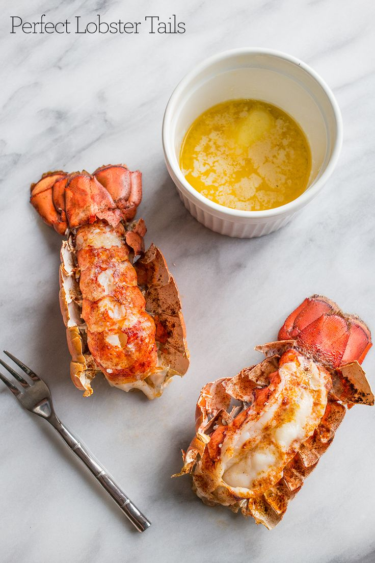10 Minute Perfect Broiled Lobster Tails Recipe via @sweetcsdesigns