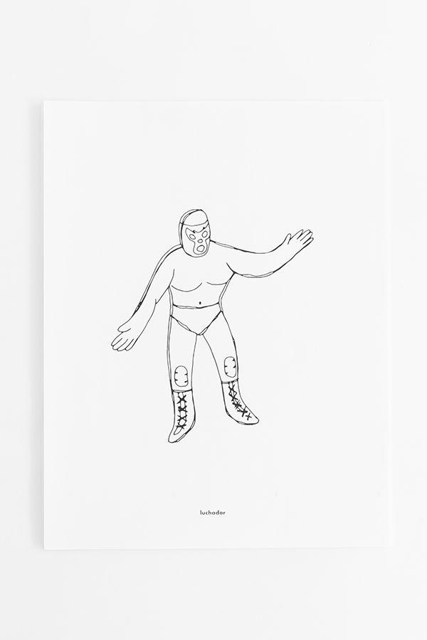Mexican Graphic File Libro De Colores Juguetes Para Colorear Luchador Mexicano