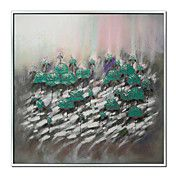 Floral Flowers in Green Framed Oil Painting – AUD $ 106.24