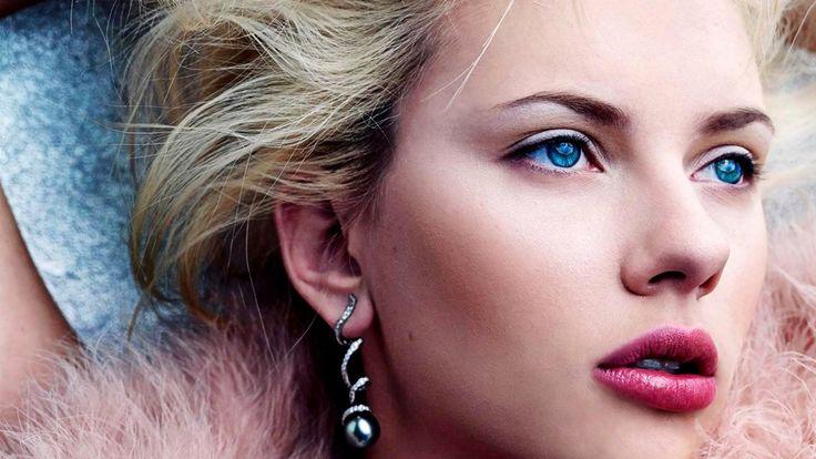 Blue Eyes Scarlett Johansson HD Wallpaper