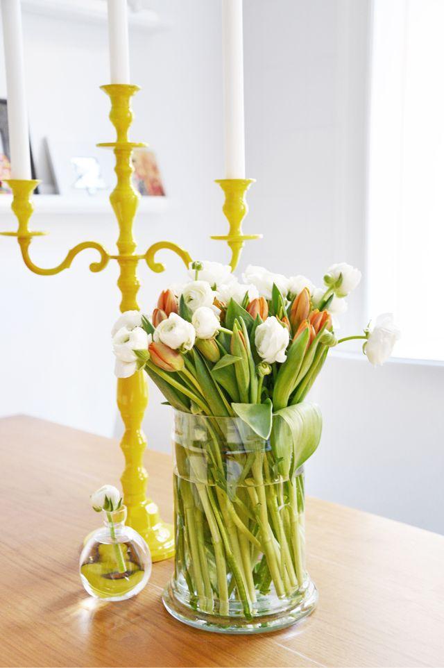spraymåla den lilla kandelabern gul
