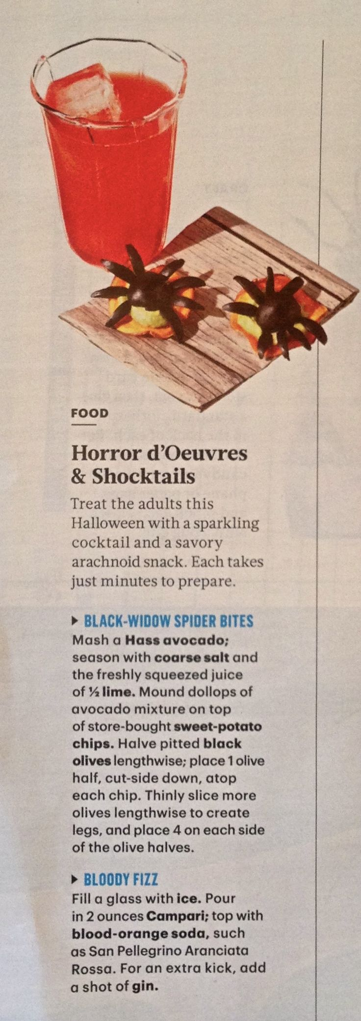 Martha Stewart Living Recipe for Halloween Cocktail with Campari and Blood Orange Soda