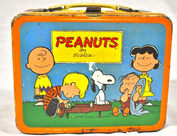 Metal Lunch Tin Part - 38: Peanuts Metal Lunch Box With Thermos, Heaven Help The Poor Kid Who Picked  An Uncool Lunchbox.