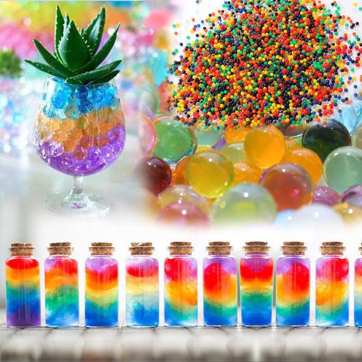1200 Unids Bolas de Burbujas de Cristal de Barro de Agua Perlas Perla Grande Perlas de Agua del suelo de Hidrogel Bola Grow Bolas Mágicas de La Jalea Casa decoración