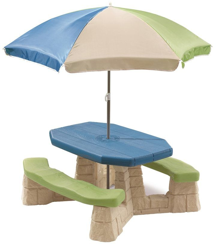 Step2 Outdoor Naturally Playful Picnic Table with Umbrella