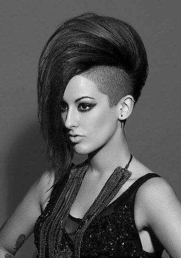 Phenomenal 1000 Ideas About Mohawk Hairstyles For Women On Pinterest Short Hairstyles Gunalazisus