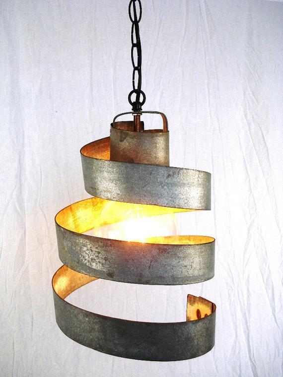 Wine Barrel Ring Hanging Pendant Light  by winecountrycraftsman, $40.00