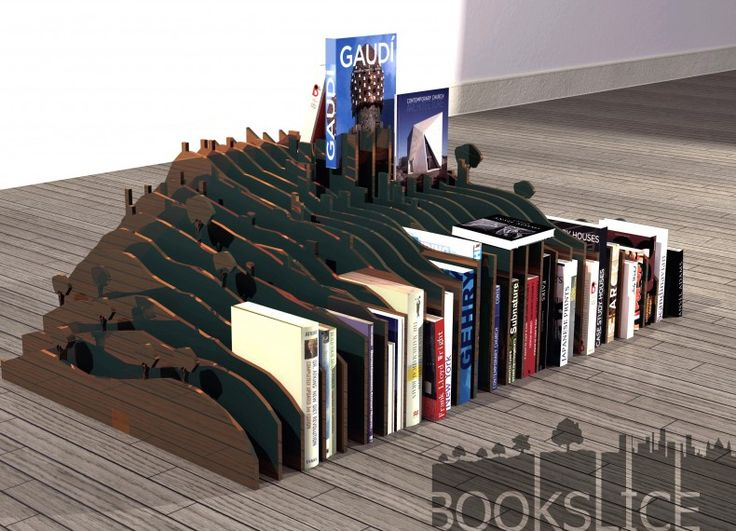 BookSlice is a bookcase and home-sculpture where you can seat and use as support for all kinds of things. Inspired in an architectural process of doing models, is basically composed by section cuts of terrain distant 2cm from each other in Iron, with a corten steel finish.