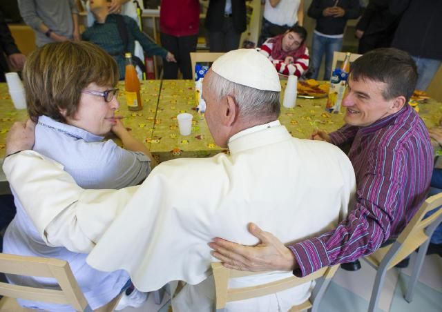 Mercy Fridays give pope a year of stories, tears, hugs