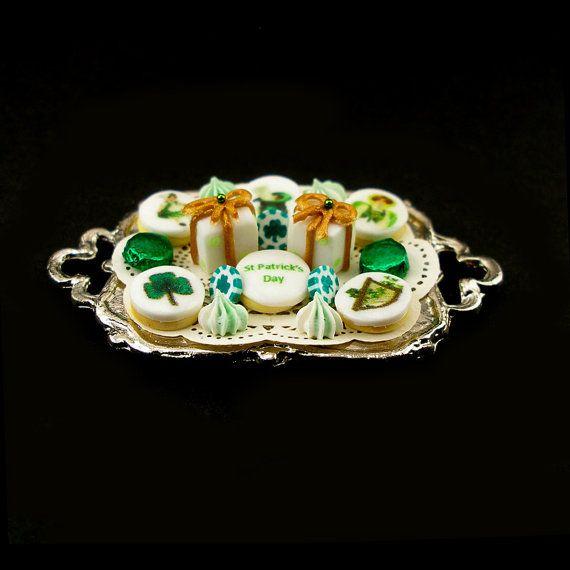 St Patrick's Day Treats   Dollhouse Miniature by DollhouseKitchen, $35.00