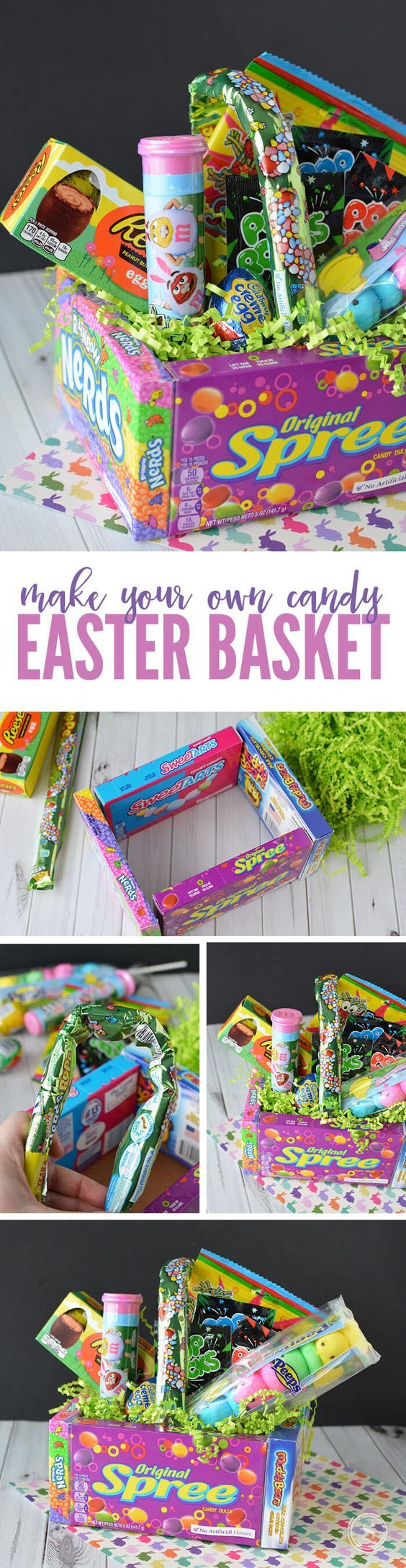The 25 best diy easter gifts for friends ideas on pinterest diy candy easter basket easy easter idea for teachers friends or kids negle Images