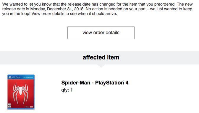 [Spiderman] [Screenshot] Target says delayed to 12/31/18. #Playstation4 #PS4 #Sony #videogames #playstation #gamer #games #gaming