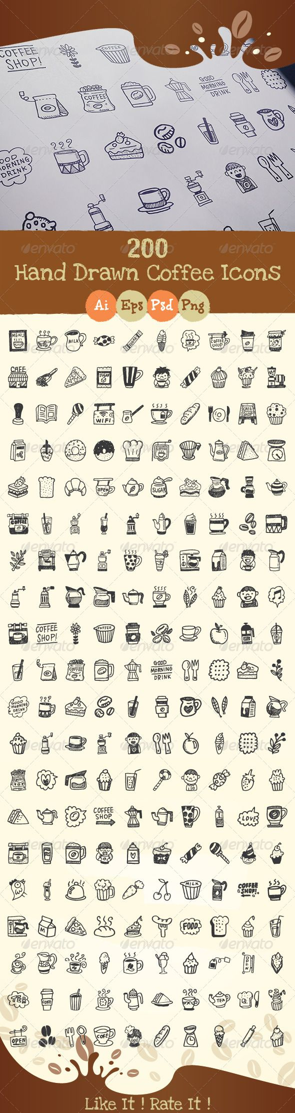 200+Hand+Drawn+Coffee+Icons