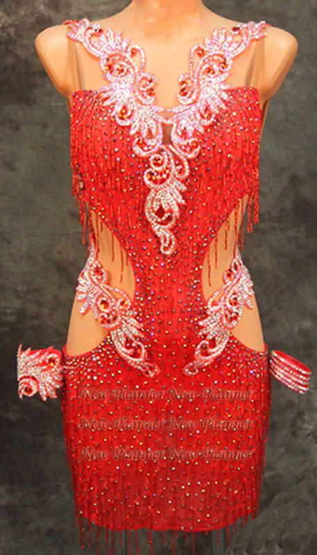 Sexty mujeres salón de baile de ritmo de salsa Rumba América la competencia de baile vestido nos 6 UK 8