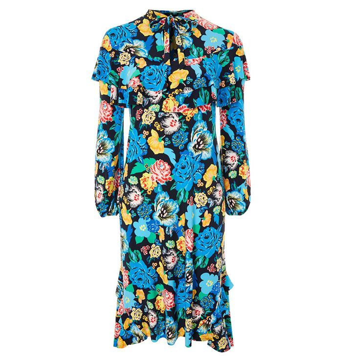 How To Look Like a Gucci Model for $125 or Less - Alpha Floral Frill Dress from InStyle.com